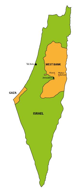 Israel Political Map Stock Photo 14757289 Panthermedia